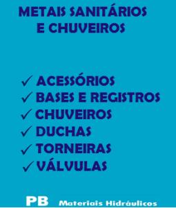 3-METAIS SANITÁRIOS E CHUVEIROS